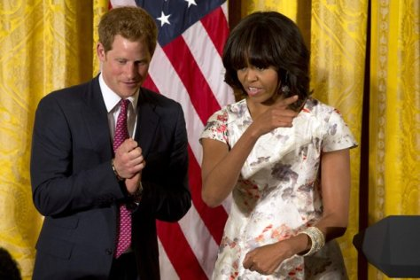 michele obama and prince harry