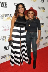 """NEW YORK, NEW YORK - MARCH 23: Monique Chantelle Sparks (L) and Naturi Naughton attend as WE tv hosts exclusive premiere screening for new series ""Sisters in Law"" on March 23, 2016 in New York City. (Photo by D Dipasupil/Getty Images for WE tv)"""